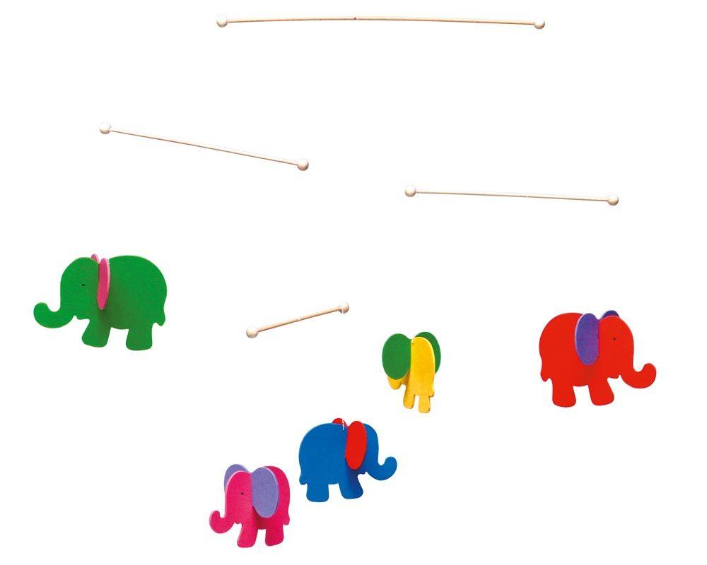 hout mobiel baby olifanten