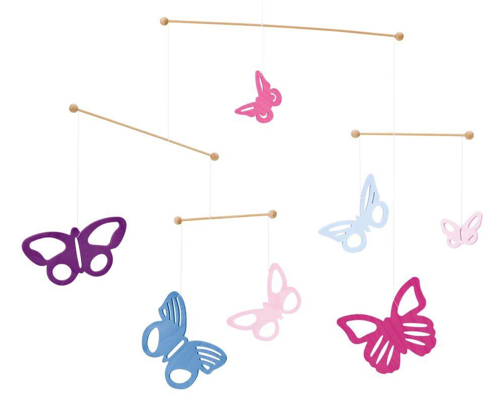 hout mobiel baby vlinders