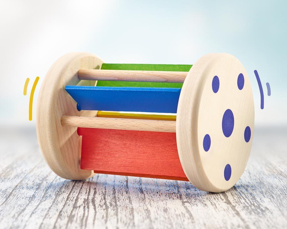 hout rolspeelgoed klappergeluiden rollmi