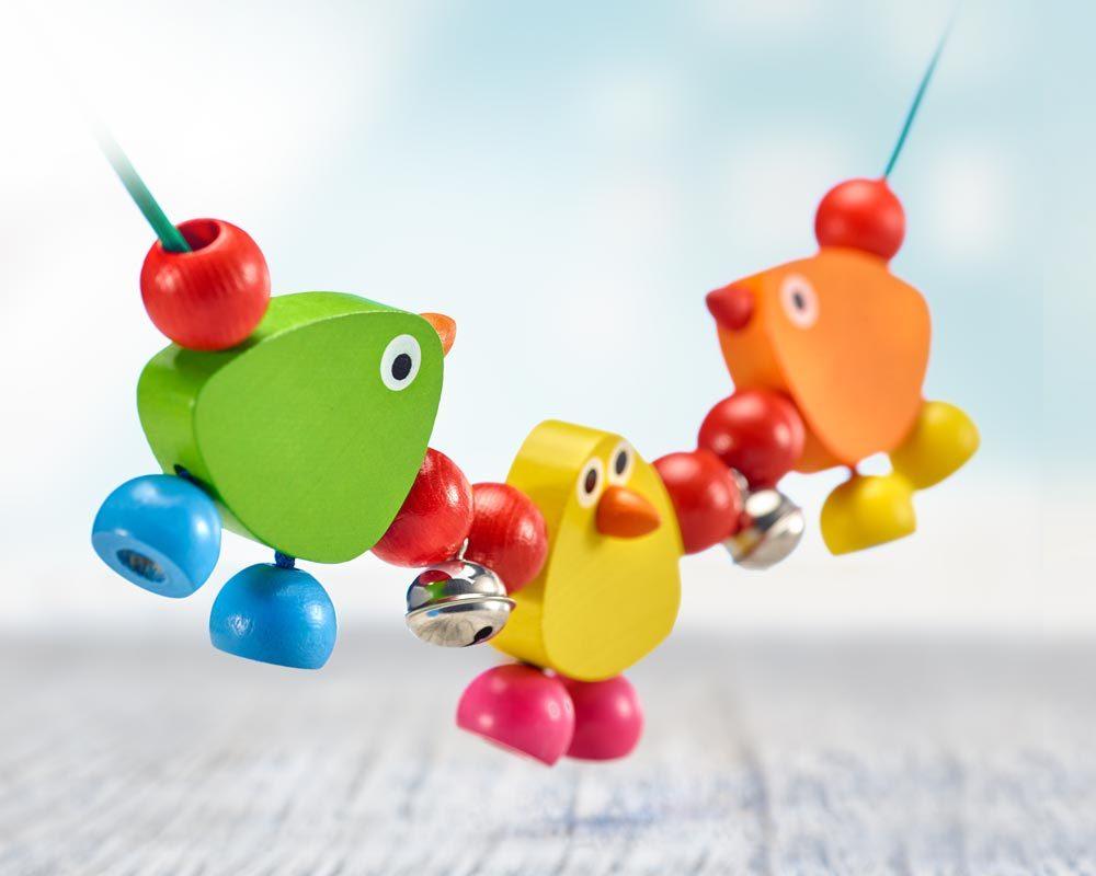 Piepolini, wagenspanner houten speelgoed Selecta