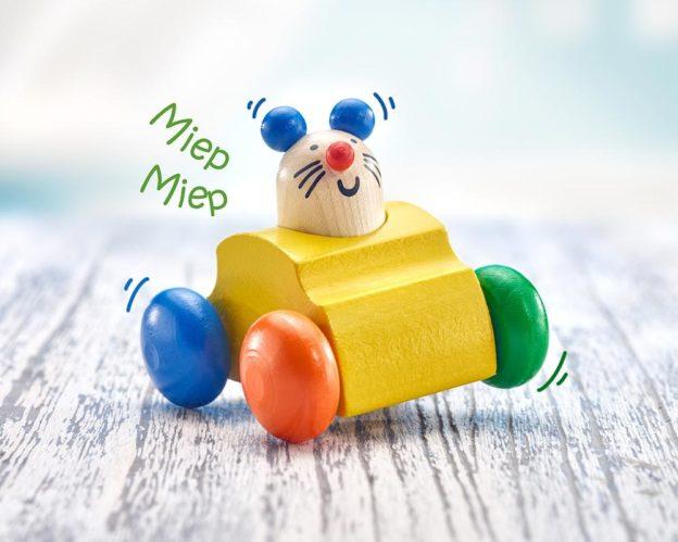hout rolspeelgoed rammelaar muis toeter