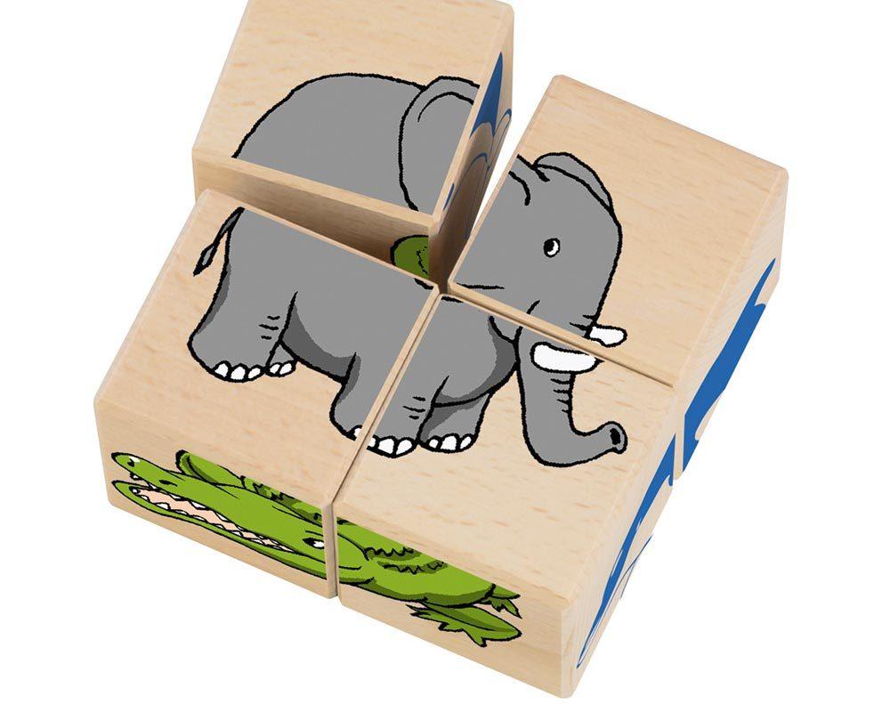 hout blokkenpuzzel dierentuindieren
