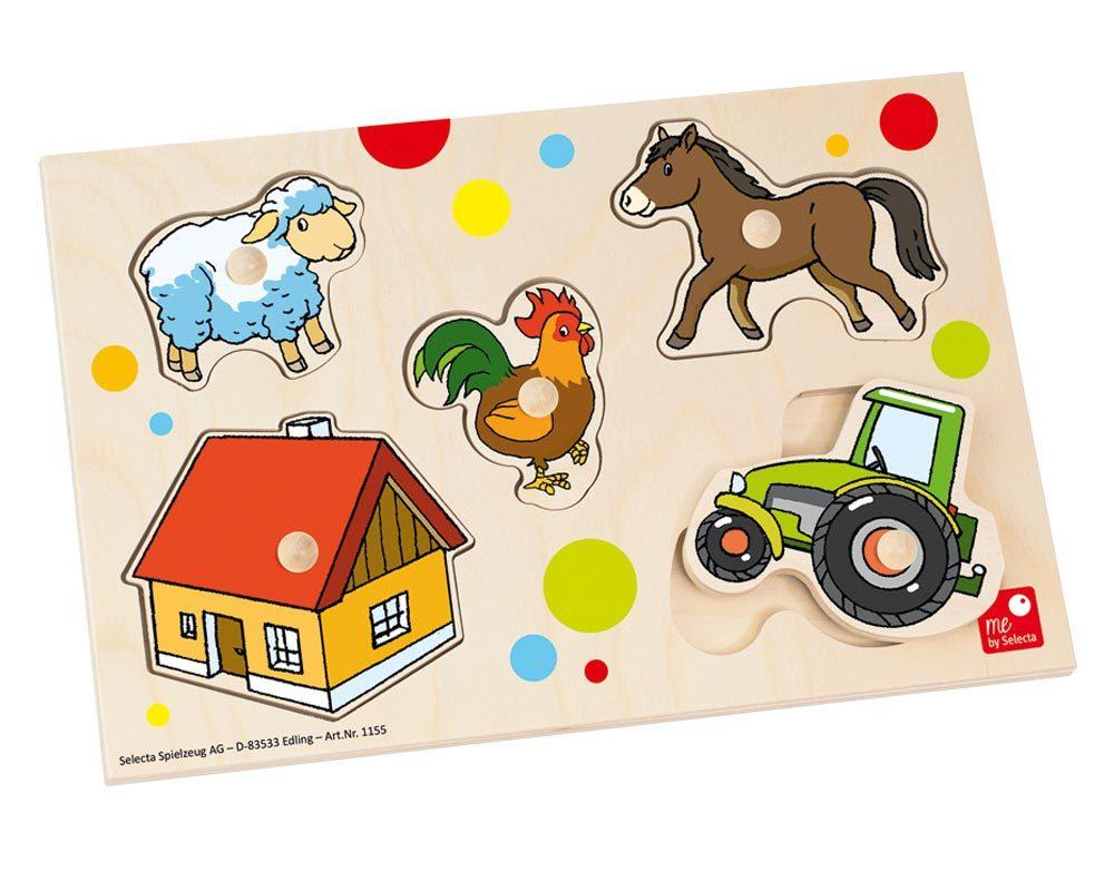 hout puzzel baby boerderij