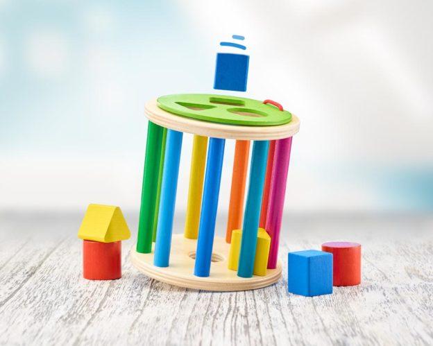 hout sorteerroller baby sorteerspel