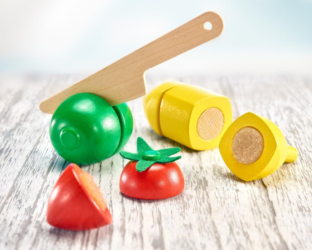 hout fruit om te snijden kinderen