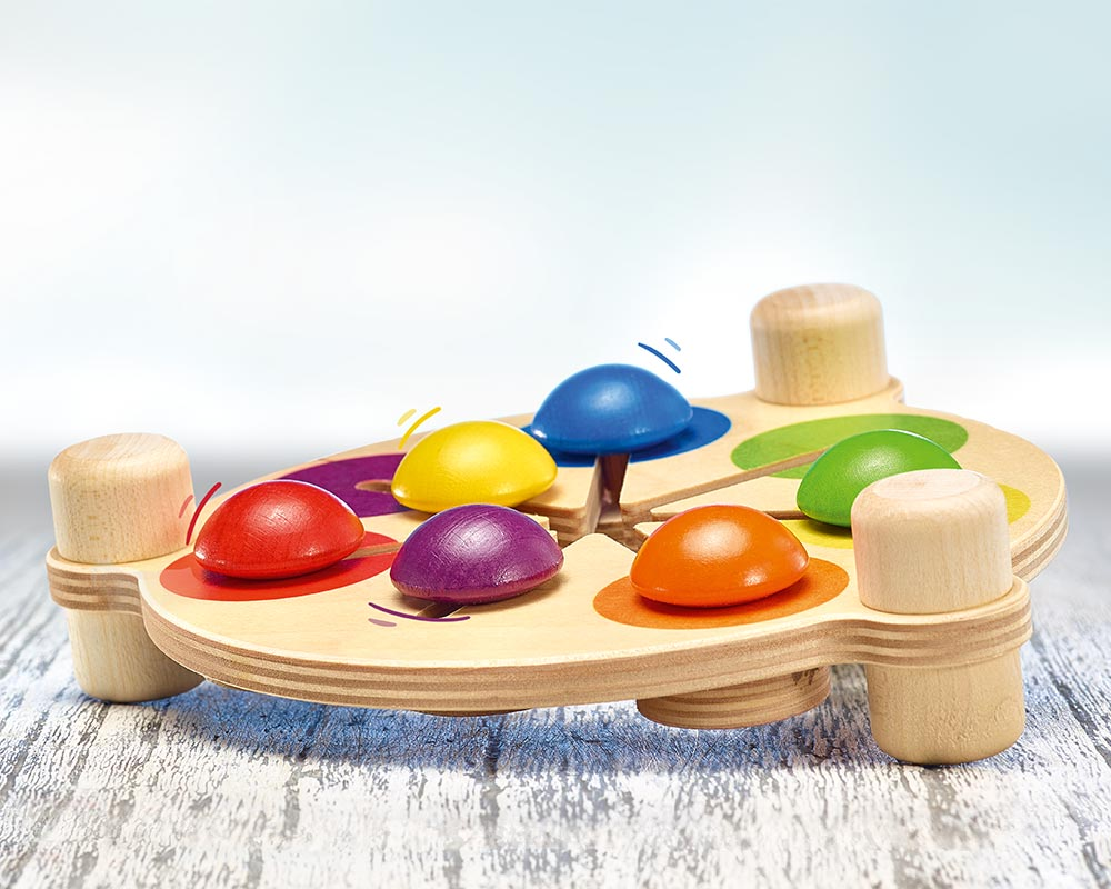 hout kleurenschuiver motoriekspel