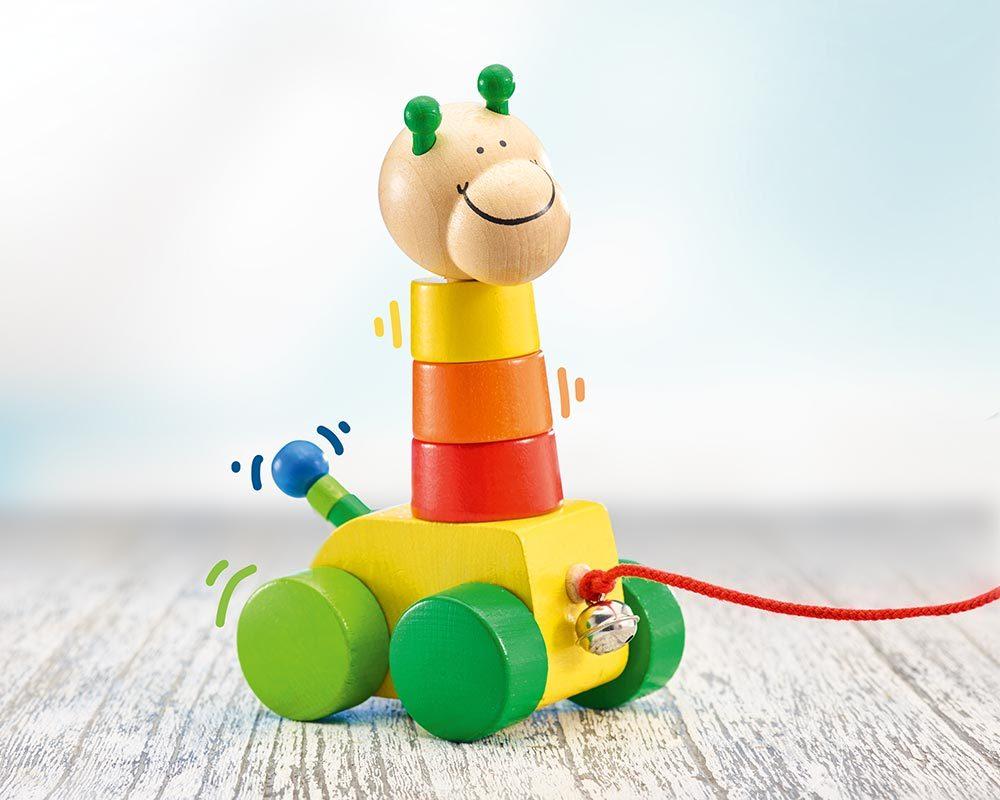 Collino Trekfiguur Stapeltoren Houten Speelgoed Selecta