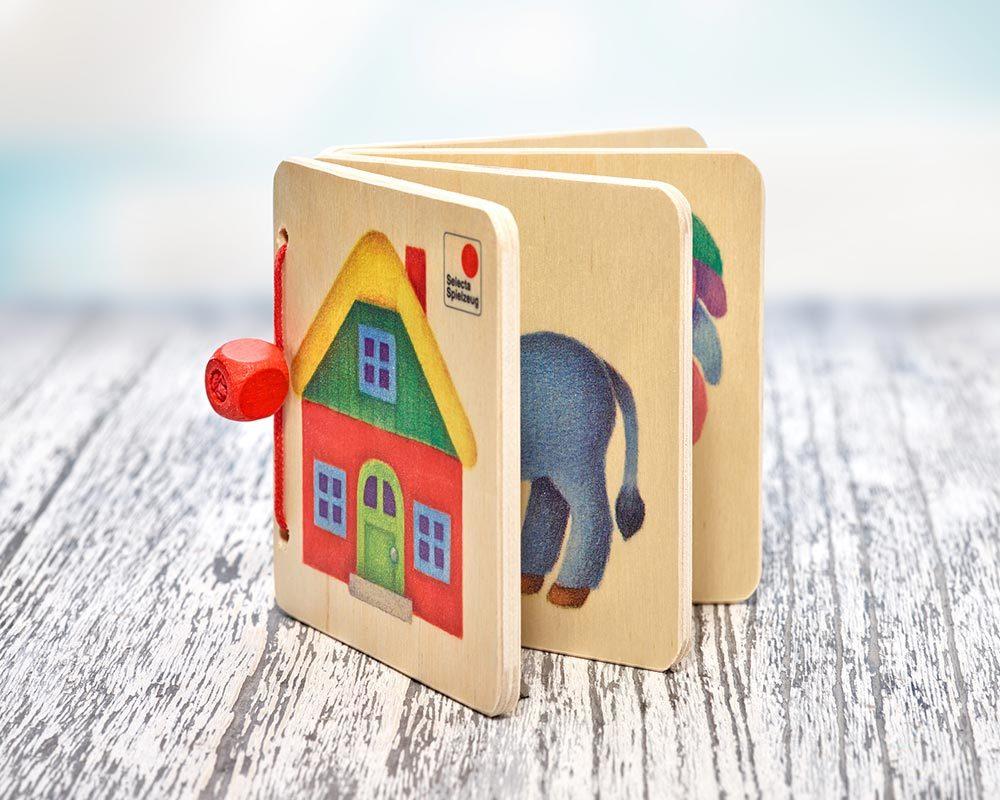 hout plaatjesboek boerderij tractor ezel