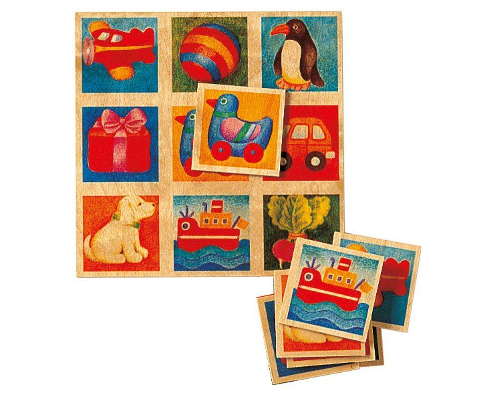 hout plaatjeslotto spel kinderen