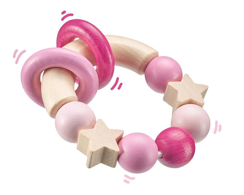 hout rammelaar roze bellybutton