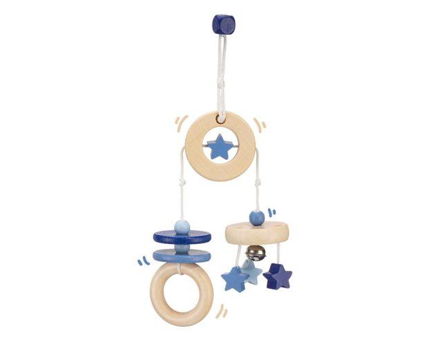 hout mini trapeze blauw bellybutton