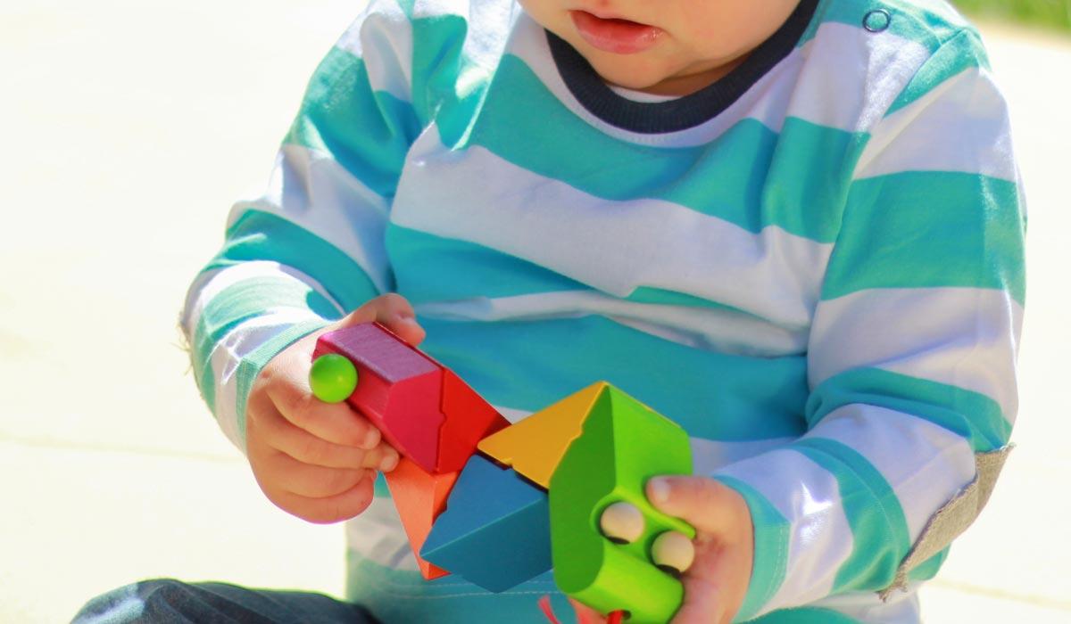 hout sorteren speelgoed