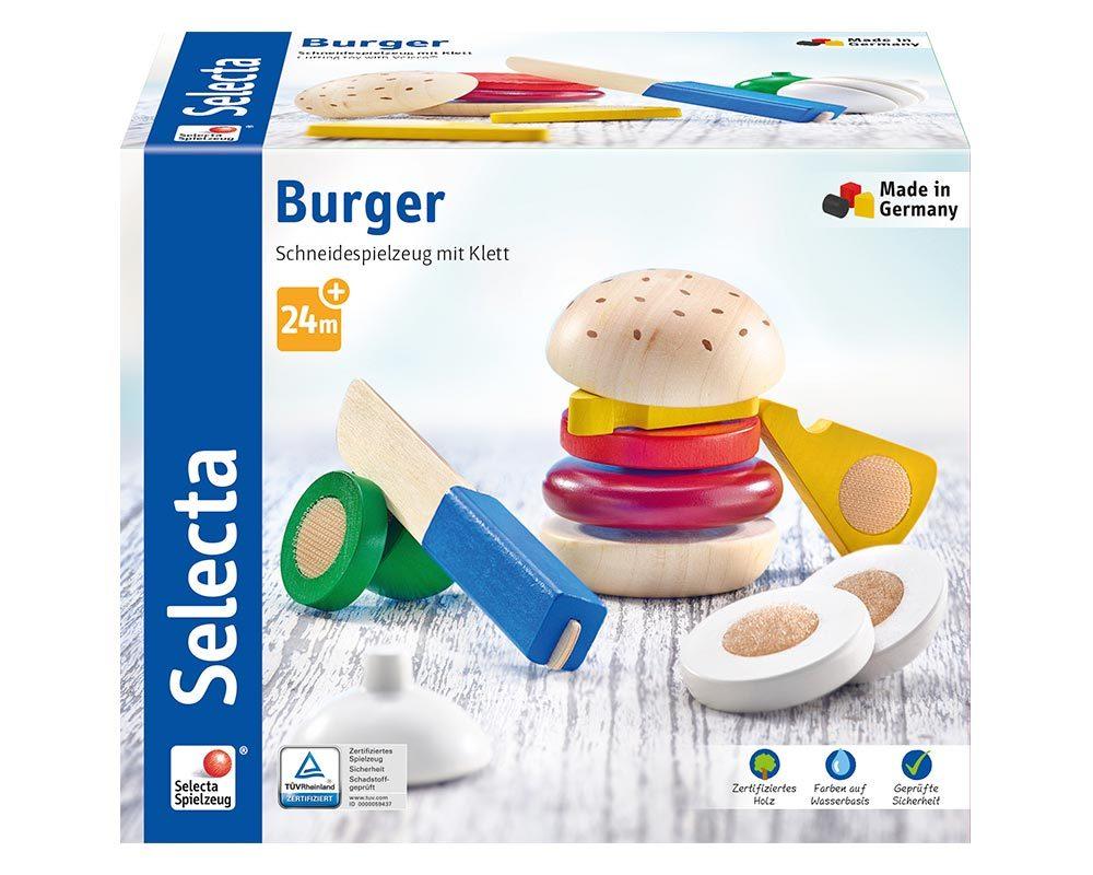 hout speelkeuken kinderen hamburger