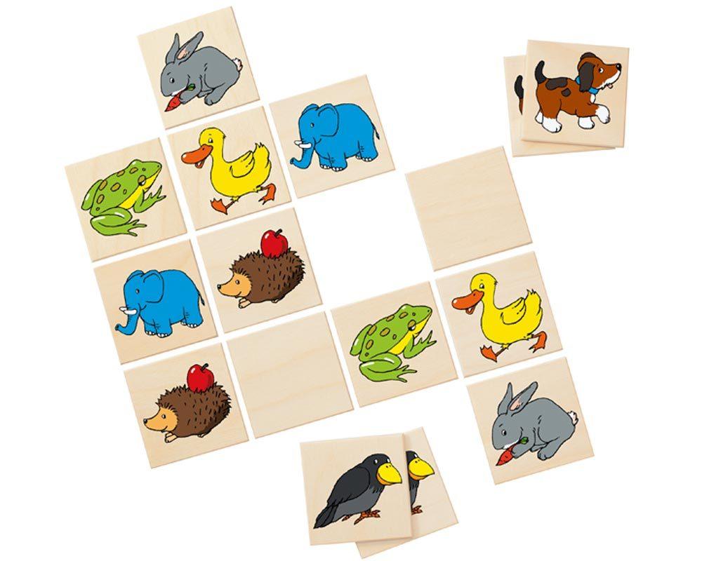 hout memo spel kinderen dieren