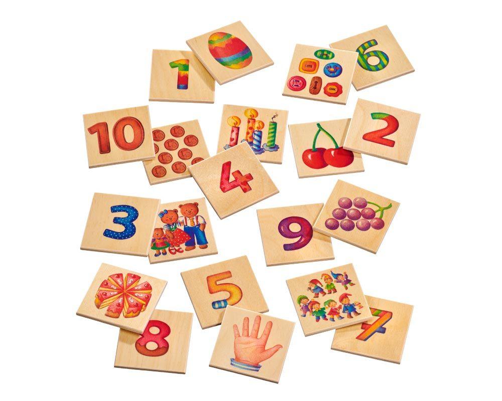 hout plaatjes memo spel cijfers