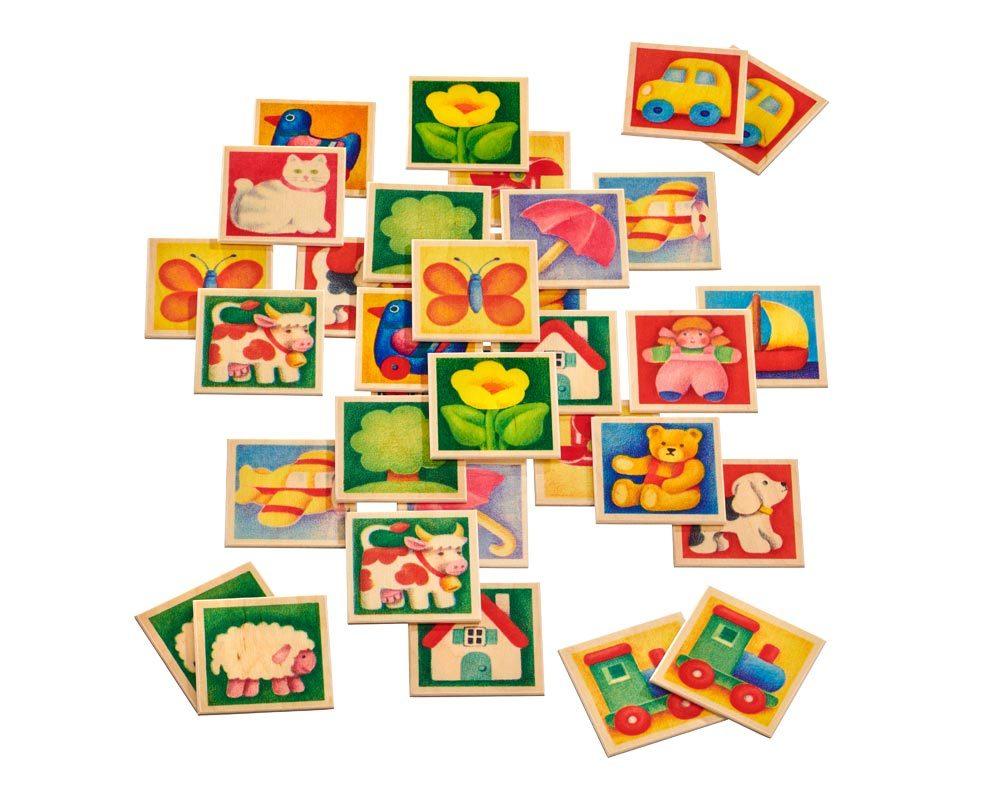 hout memory spel kinderen kleurrijk