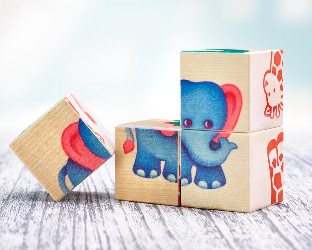 hout blokkenpuzzel kinderdierentuin