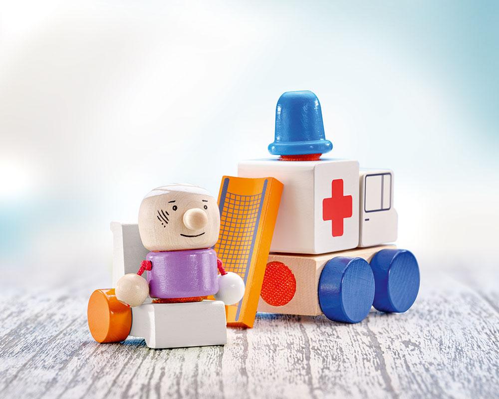 KLETTINI® ambulance, klittenband-voertuig, stapelspeelgoed
