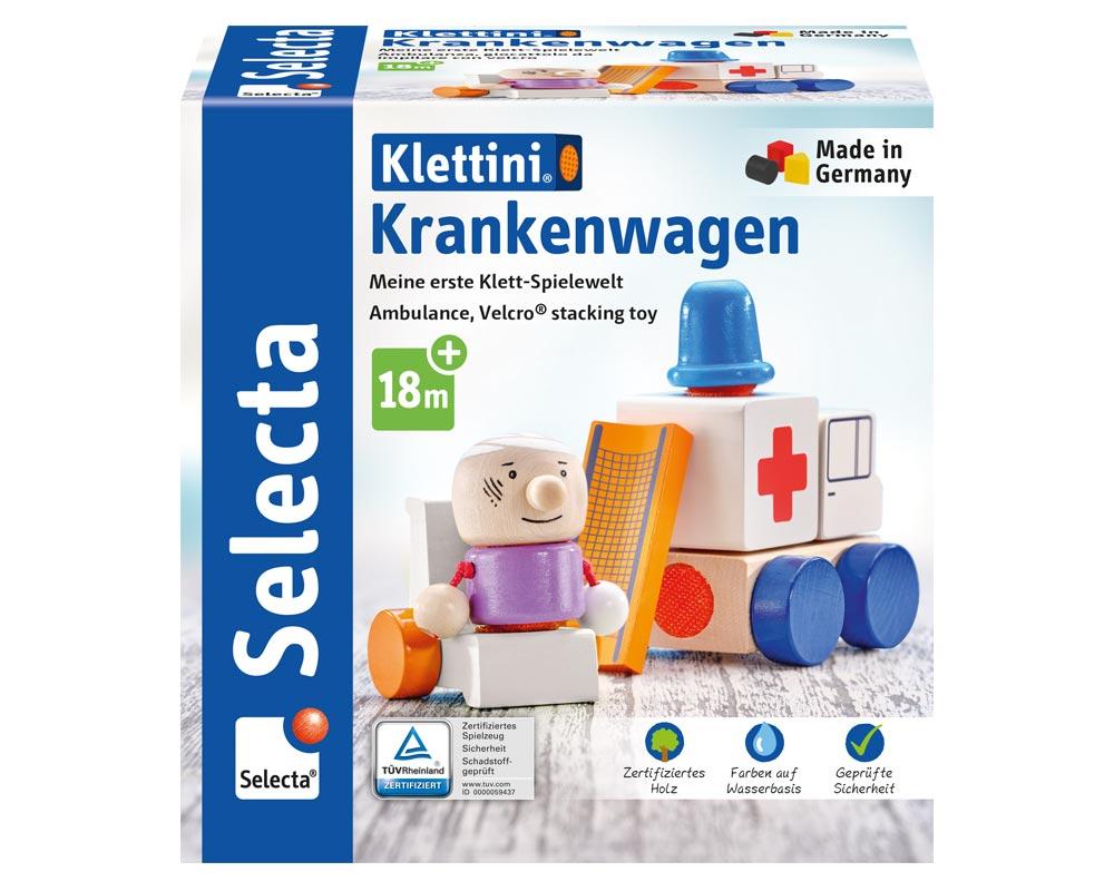 klettini ambulance houten speelgoed Verpakking