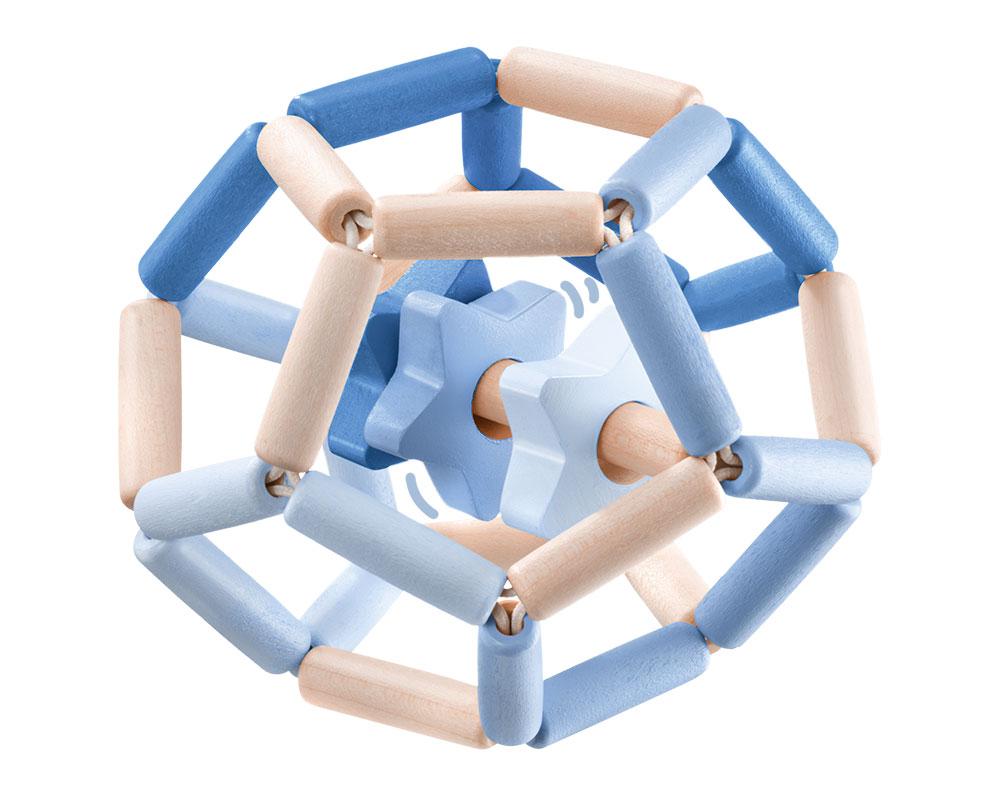 Sterrendans blauw bellybutton houten speelgoed