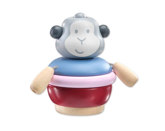 Stapelaapje houten speelgoed