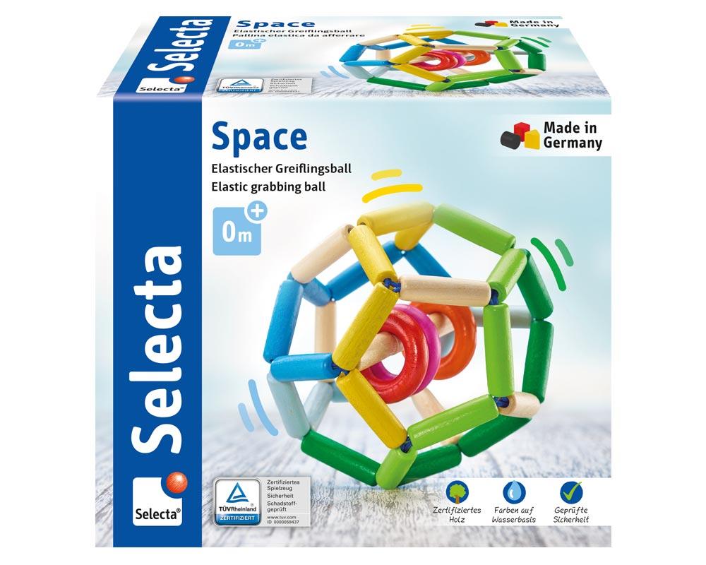 space houten speelgoed Verpakking